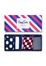 Happy Socks Streipen-Socken Geschenk-Set - 4 Paar,Gr. 41-46 (XBDO09-6000)