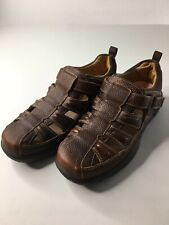 Dr. Comfort Fisherman Mens Leather Diabetic Therapeutic Sandals Size 10M Brown