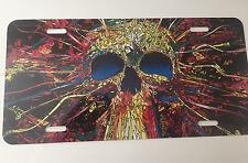 Colorful Skull High Detail Aluminum Novelty License Plate