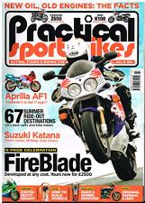 Practical Sportsbikes Issue 43 CBR900RR AF1 Turbo Katana Z650 K100 XJ600 ZXR750