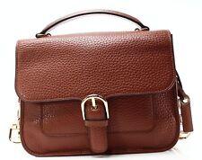 Michael Kors NEW Brown Pebble Leather Cooper School Satchel Bag Purse $378- #011