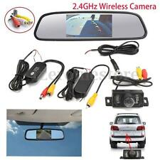 Wireless Car Rear View Kit Reversing Camera LED Sensor+ 4.3'' LCD Mirror Monitor