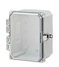 H6064HCLL... Polycarbonate hinged enclosure w/ clear cover with locking latch