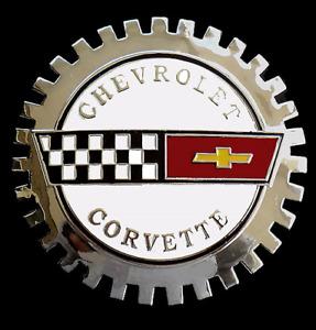 NEW Indoor/Outdoor Corvette C4 Badge Emblem -Adhesive backed-Chromed Brass