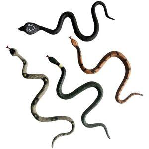 4x GUMMISCHLANGEN 17cm Gummischlange Cobra Schlange Tierfiguren Scherzartikel
