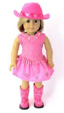 """Complete! 5 pc Hot Pink Cowgirl Skirt Set for 18"""" American Girl Doll Selection!"""