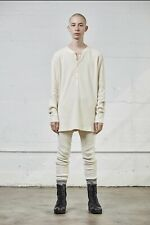 Men's FOG Fear of God Pacsun Collection One Henley Waffle L/S Shirt Cream S