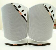 Pair B&W Rock Solid 2-way speakers white, home theater Bowers and Wilkins