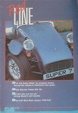 Red Line magazine 04/1987 featuring TVR Jaguar XJS, Caterham, Mazda, Volvo