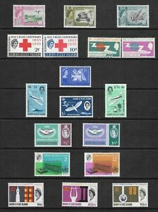1960-1966 EIGHT SETS GILBERT AND ELLICE ISLANDS POSTAGE STAMPS - MLH.