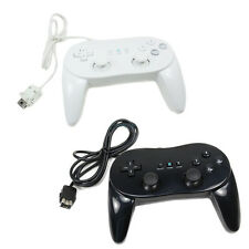 2 x NEW Classic Pro Remote Controller for Nintendo Wii Black&White US Ship