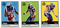 2015 OPC CFL Montreal Alouettes Lot of 3 Cards S.J. Green, Bear Woods, Chip Cox