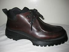 Prada Leather Brown Lug Sole Oxford Men Shoes Design Size 10, US 11.5 - 12.