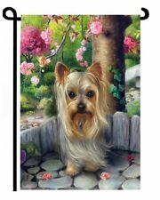 YORKIE GARDEN FLAG Dog ART Yorkshire Terrier by Brooke Faulder oil painting
