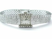 Vintage 18Kt Rolex Diamond White Gold Watch .28Ct