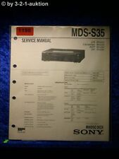 Sony Service Manual MDS S35 (#1198)