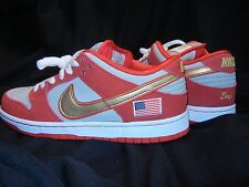 NEW Nike Dunk Low Pro SB Nasty Boys 304292-610 Men's Size 8 RED/GOLD/GRAY