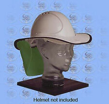 SNAP-BRIM UVF Brim for Safety/CONSTRUCTION Helmets - Green/White