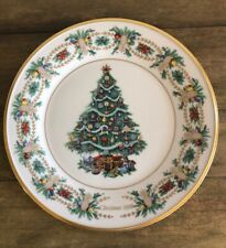 Lenox Christmas Trees Around The World Plate 1998 America Great Condition