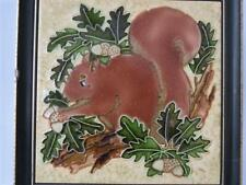 Majolica Wall Plaque - Maw's Squirrel Wall Plaque - Tube Lined Majolica