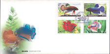 Nice FDC Thailand Fighting Fish Full serie 4 stamps 2002 First Day Cover