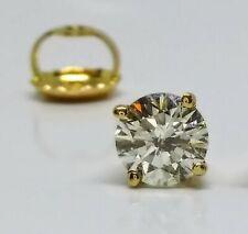 Single 0.40CT REAL GENUINE Diamond Stud Earring 14k SOLID Gold WOW