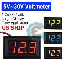 1x Mini DC 5-30V  Voltage Volt Meter Voltmeter Blue LED Panel 3-Digital Display