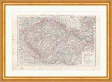 Karte von Böhmen und Mähren Österr.-Schlesien Prag Sudetenland Oder RAH 049