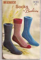 Sock 16 KNITTING PATTERNS Book Patons Socks by Beehive FREE SHIPPING Men's Socks