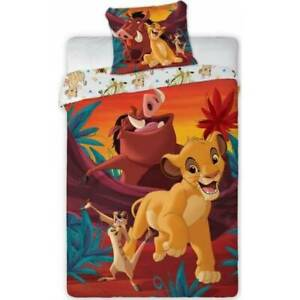 Lion King Simba Sunning Bedding Duvet Cover & Pillow case Single bed set