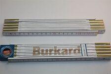 Zollstock mit Namen     BURKARD   Lasergravur 2 Meter Handwerkerqualität