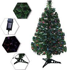 3 Feet Tall Christmas Tree Color Changing Fiber Optic Decorative Indoor Xmas New