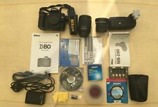 Nikon D80 Digital SLR Camera, Nikkor AF 28-100mm f/3.5-5.6 Lens + MB-D80 Bundle
