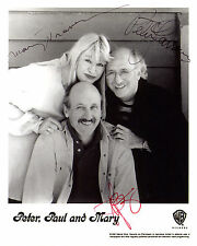 REPRINT - PETER PAUL AND MARY 1 vintage autographed signed photo copy