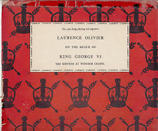 Laurence Olivier:On The Death of King George VI-1952-At Windsor-10''-Record LP