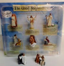 "The Good Shepherd 8 Pc Figurine Series Bible Verse Jesus Christ Savior 1.5-2"" Ht"