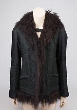 🔥 ERMANNO SCERVINO 🔥 Fur Trimmed Hooded Jacket, SIZE IT 42/ US 8/UK 10/EU 38