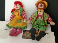 "Bubba & Tiki Angel Doll Clown Collection 1997 Each 22"" tall has authentic papers"
