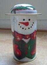Decorative tin - snowman green Christmas