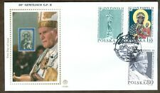 Poland 2000 Joint Issue with Vatican: John Paul II 80 Birthday FDC