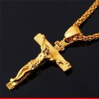 Jesus Christus Kreuz Kette 50 cm mit Inri Anhänger Halskette Kruzifix Schmuck