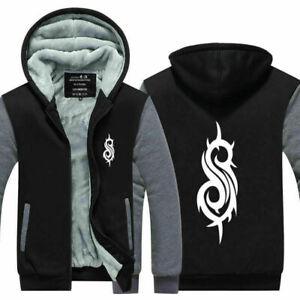 Slipknot Hoodie Sweatshirt Zipper Thicken Sweater Winter Warm Coat Jacket Top