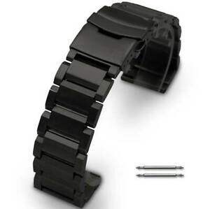 Black Metal Steel Replacement Band Strap Fits Nixon Watch Double Lock Clasp 5002