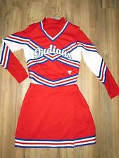 Authentic Cheerleader Uniform Outfit Indians Complete 3 Piece 32/25 Varsity WOW!