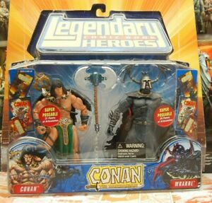 2007 Marvel Legendary Comic Book Heroes Conan and Wrarrl Set NEW