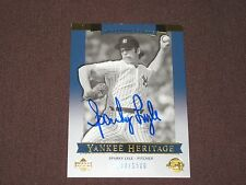 YANKEE LEGEND W.S.C. CY YOUNG WINNER SPARKY LYLE  AUTOGRAPH BASEBALL CARD W/COA