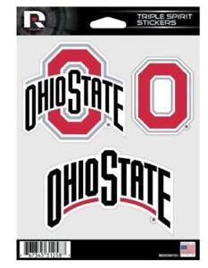 Ohio State Buckeyes Triple Spirit Sticker Sheet Die Cut Decal Full Color Logo