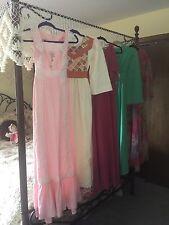 Wholesale Lot Vintage 1970s Hippie Boho Peasant Maxi, OOAK Dresses XS, S, M