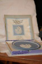 Wedgwood Blue Jasperware Mother 1973 Collector Plate, England