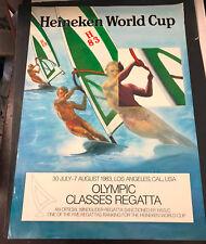 Vtg Heineken World Cup 1983 Windsurfing Wind Surfing Los Angeles California